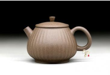 百褶潘壶(紫泥,段泥,青灰段)-马国锋